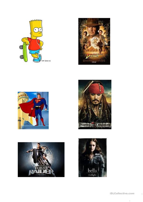 Image of famous films-for films lesson