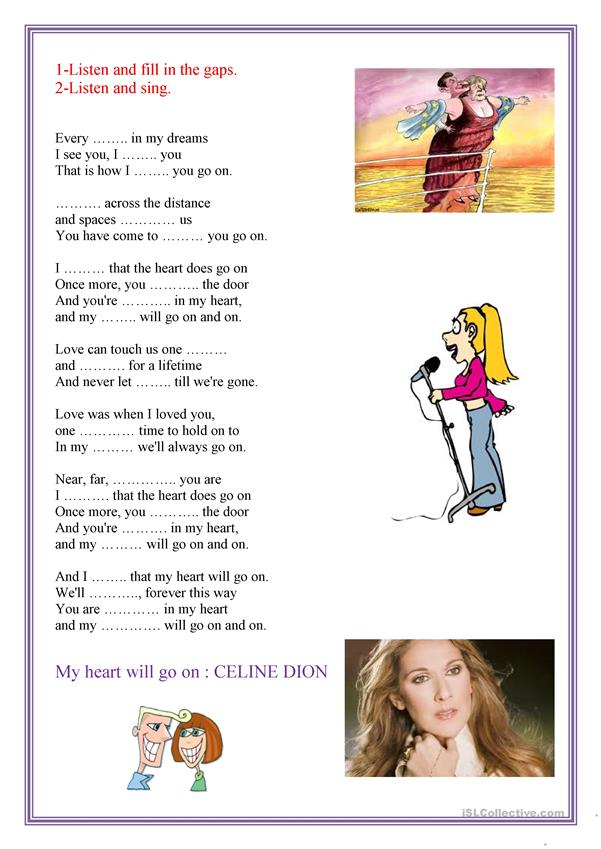 My heart will go on : CELINE DION