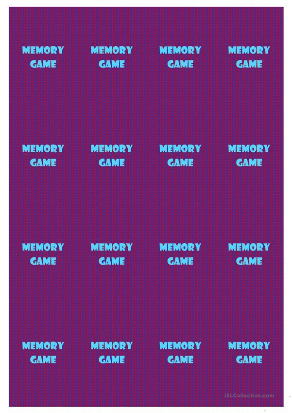 Prepositions - Memory Game