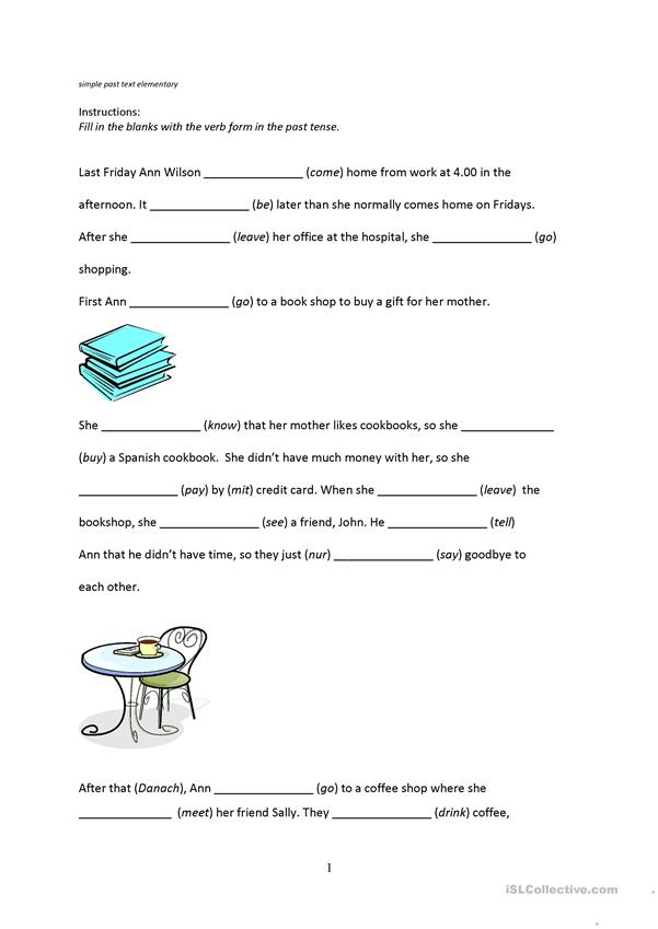 simple past text (elementary)