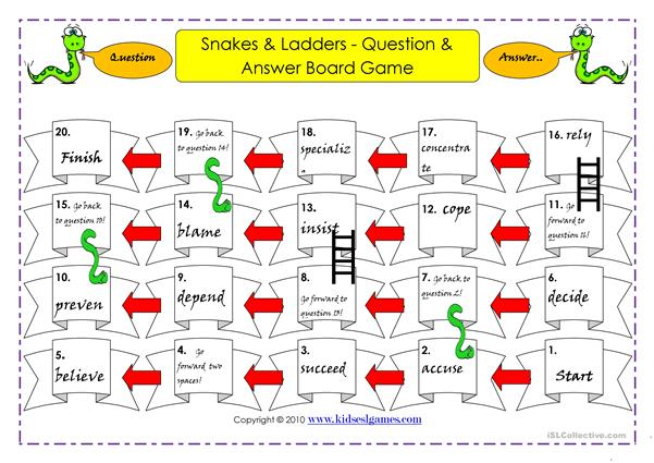 Snakes and Ladders Gerunds