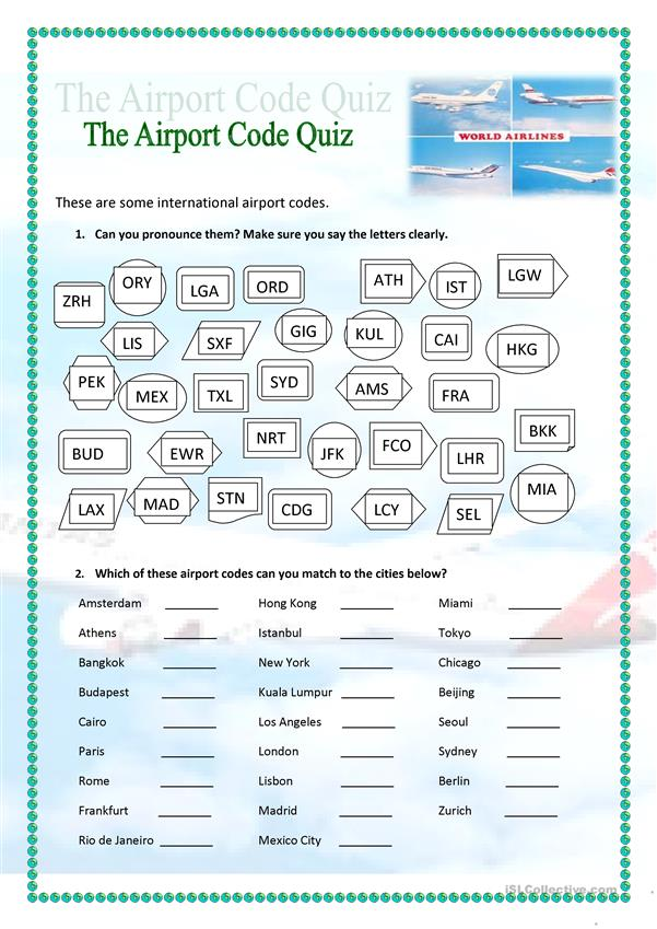 The Airport Code Quiz