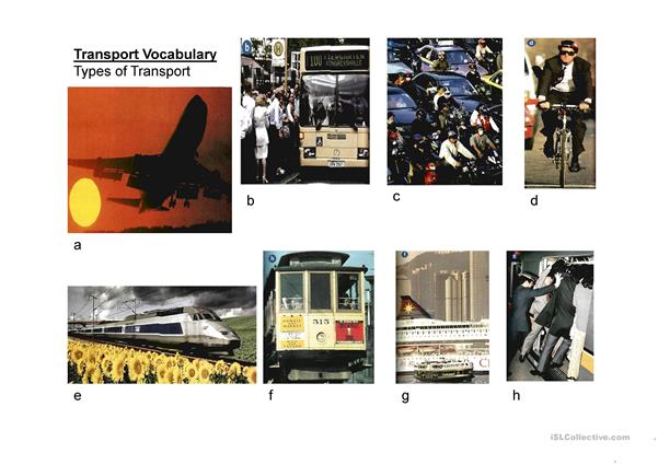 Transport Vocabulary power point