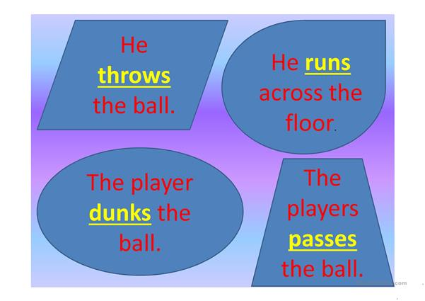 Verbs - Action Words (Sports)