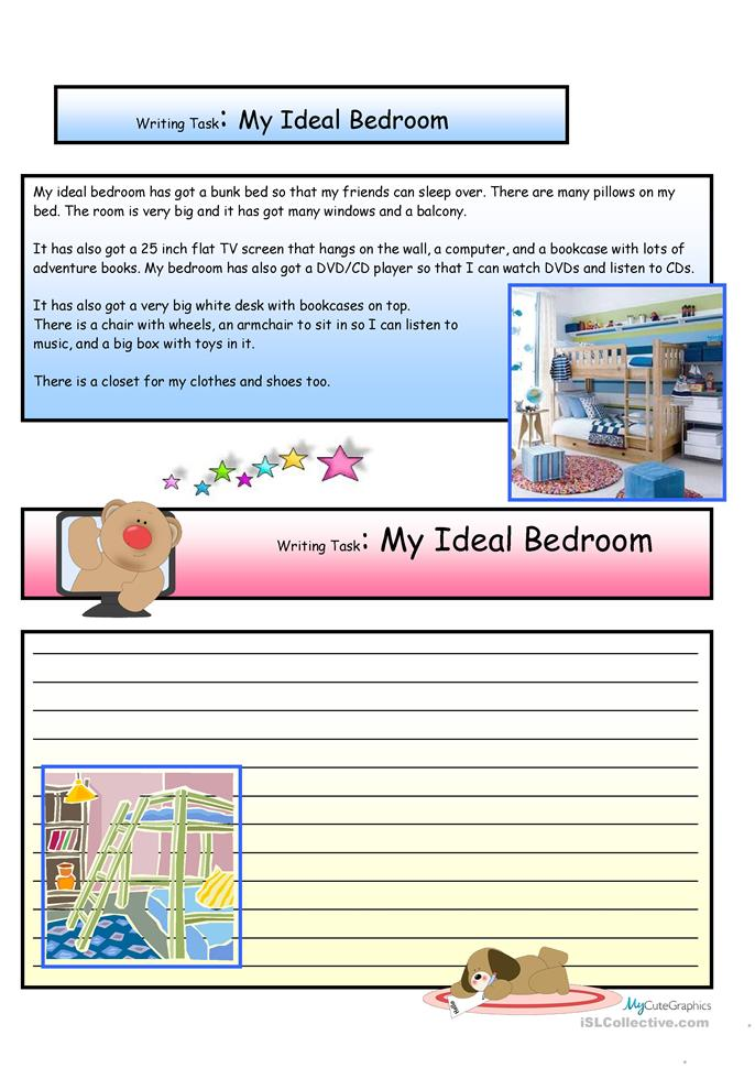 Paragraph Writing: My Lovely Room