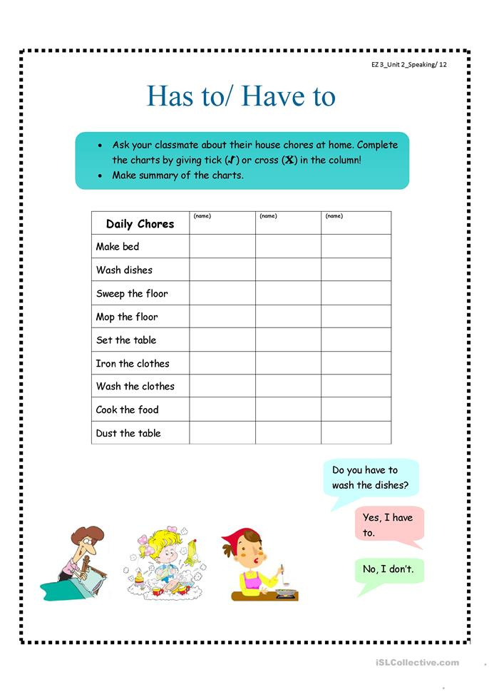 has to have to worksheet free esl printable worksheets made by teachers. Black Bedroom Furniture Sets. Home Design Ideas