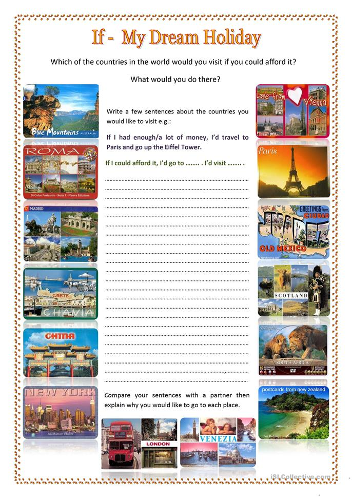 If-my dream holiday - ESL worksheets