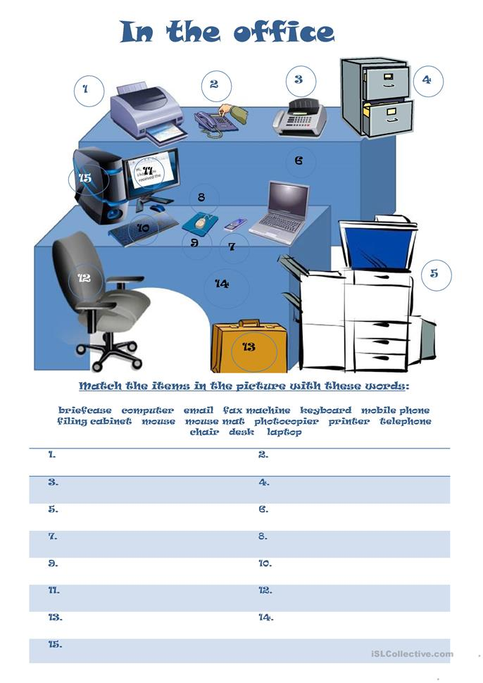 Worksheets Office Worksheets 57 free esl office worksheets in the office