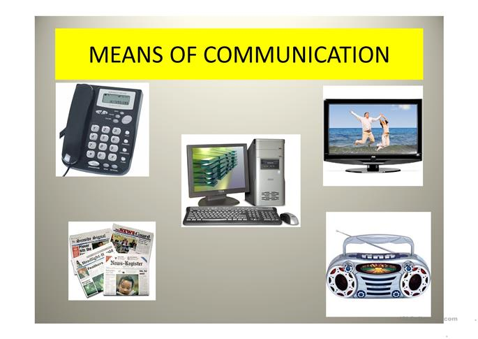 devices types of electronic communication