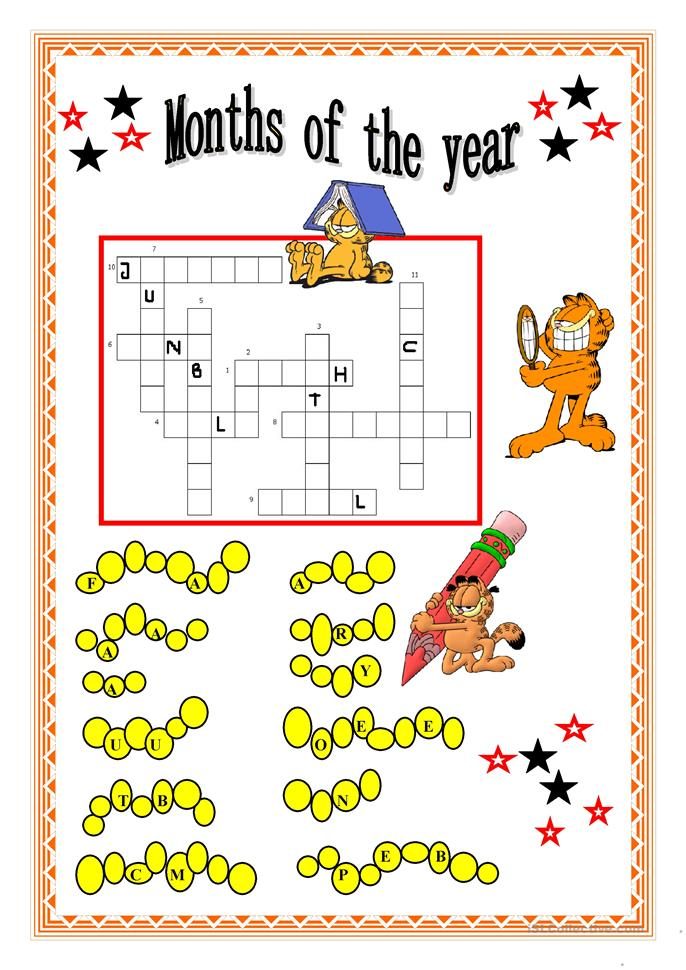 MONTHS OF THE YEAR - ESL worksheets