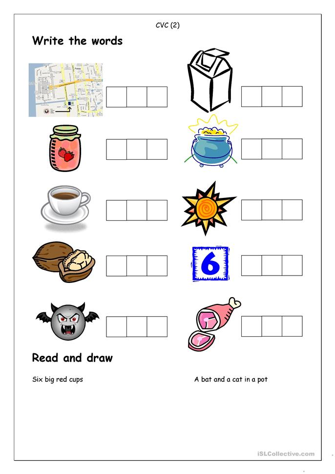 Phonics - Spelling CVC (2) - ESL worksheets