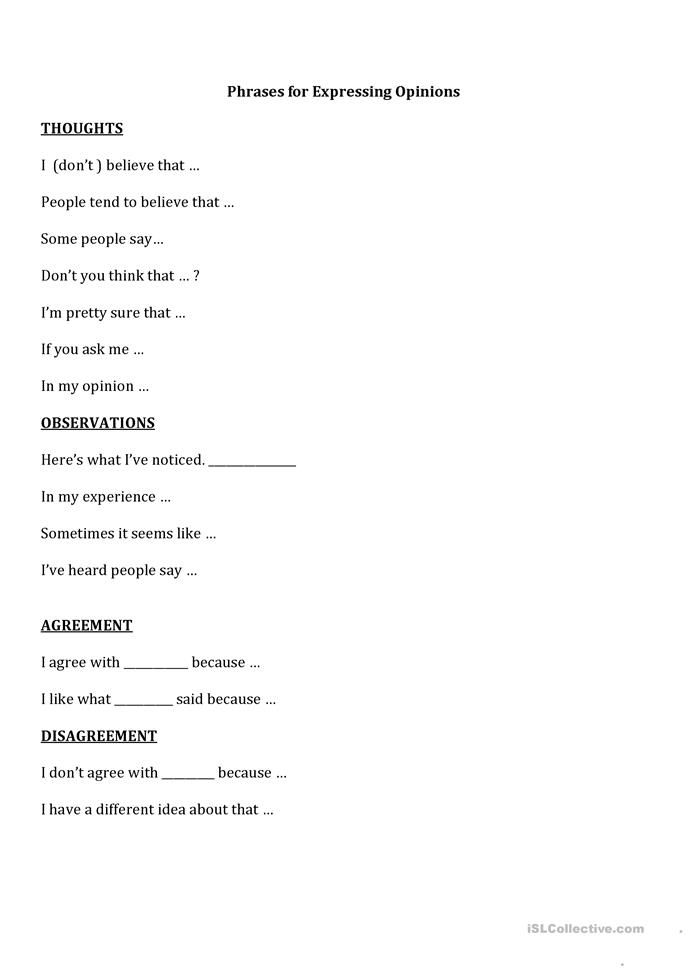 English In Italian: Phrases For Agreeing And Disagreeing Worksheet