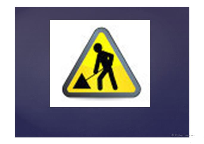 revision of Warning signs  - ESL powerpoints