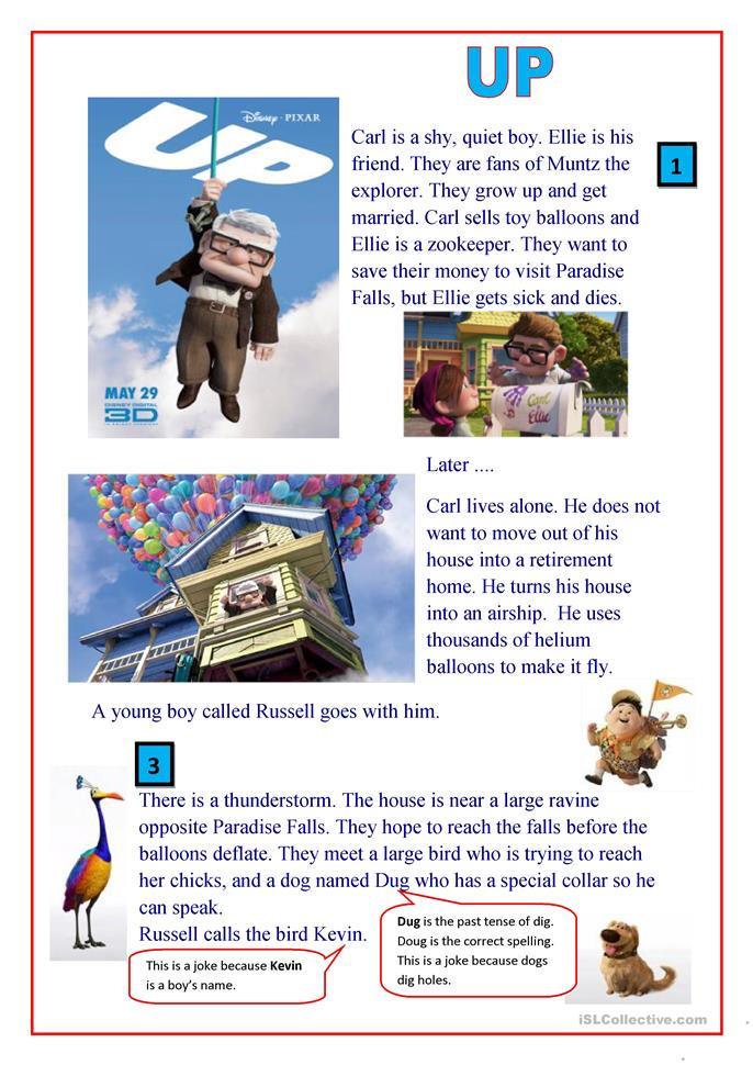 UP (the movie) - ESL worksheets