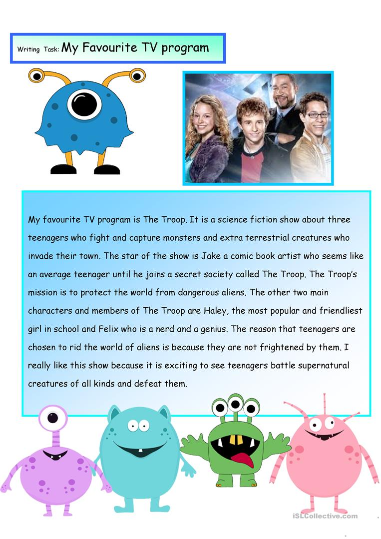 essay on my favourite tv program Helllllo every one it's my first topic in here so i hope that it will be good toefl essay samples television has become a very great thing in our lives.