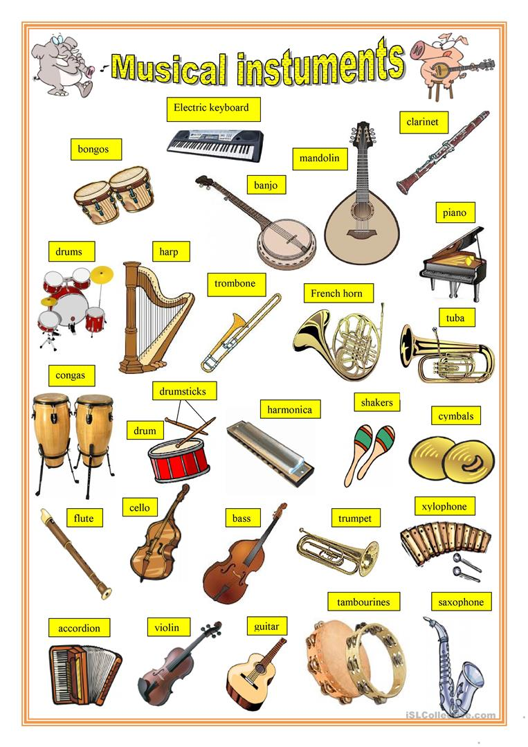 70 000 Free ESL EFL worksheets made by teachers for teachers – Instruments of the Orchestra Worksheets