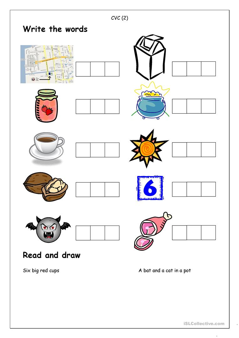 32 FREE ESL cvc worksheets