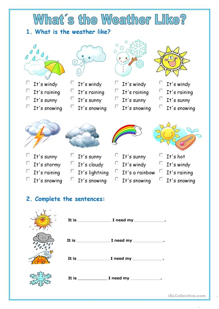 the weather english esl worksheets. Black Bedroom Furniture Sets. Home Design Ideas