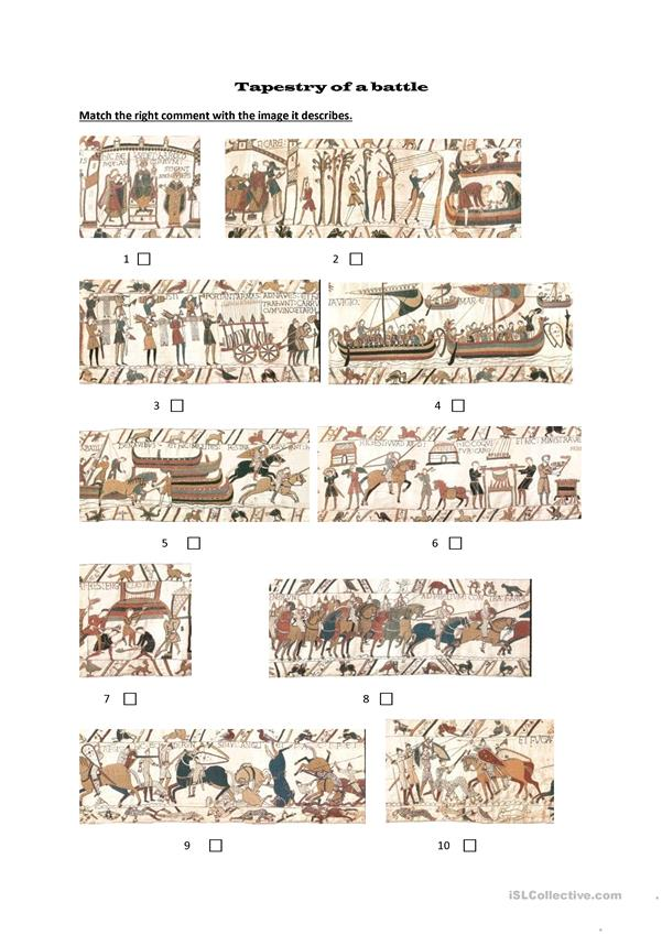 Bayeux tapestry matching exercise