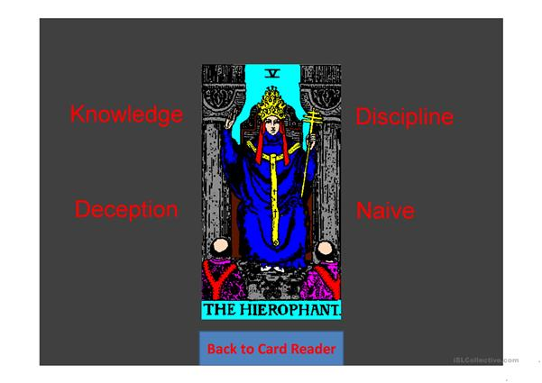 Future Tarot Cards Random Game for two teams