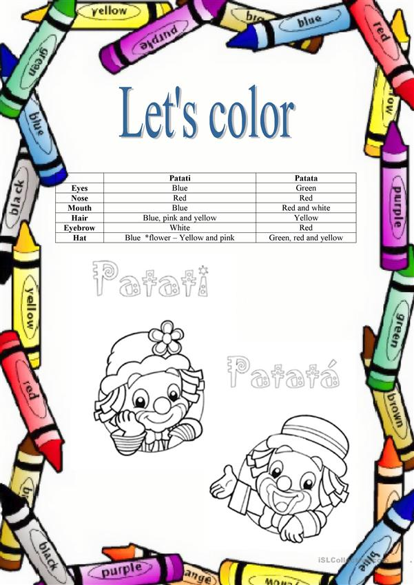 Let's color Patati and Patata