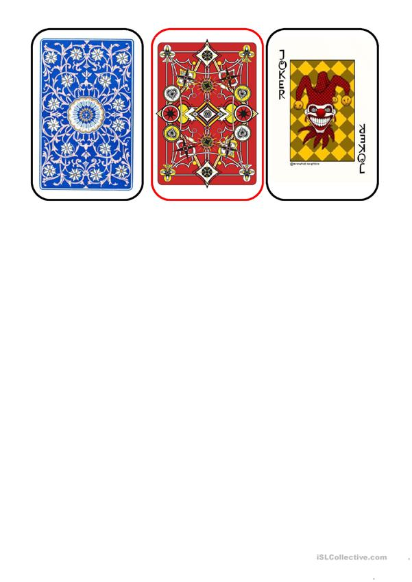 Nationalities - card game Back of cards