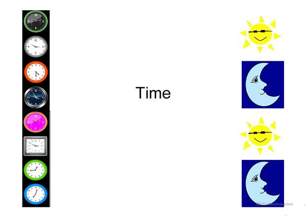 periods of time (morning, aftenoon, evening and night)