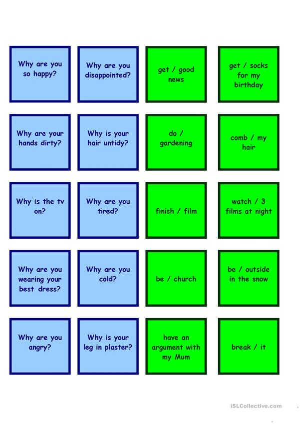 present perfect speaking activity