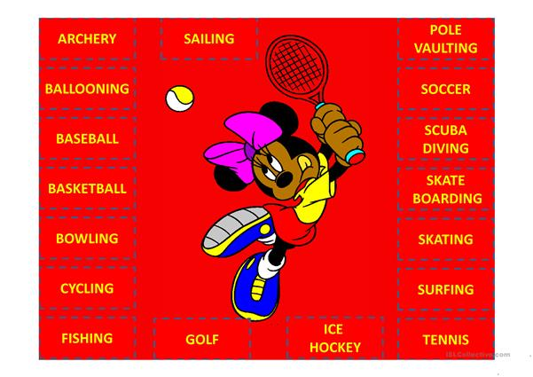 Sports with Mickey Mouse and friends