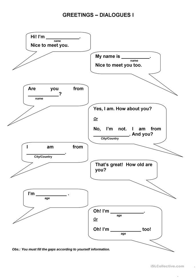 ... Dialogues worksheet - Free ESL printable worksheets made by teachers