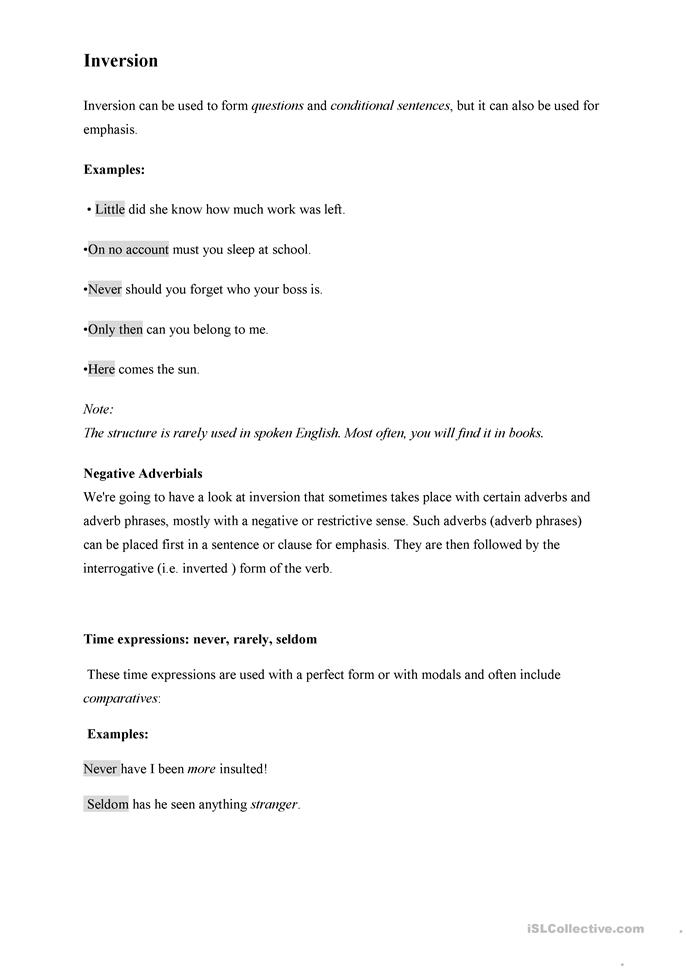 spanish sentence structure worksheets pdf