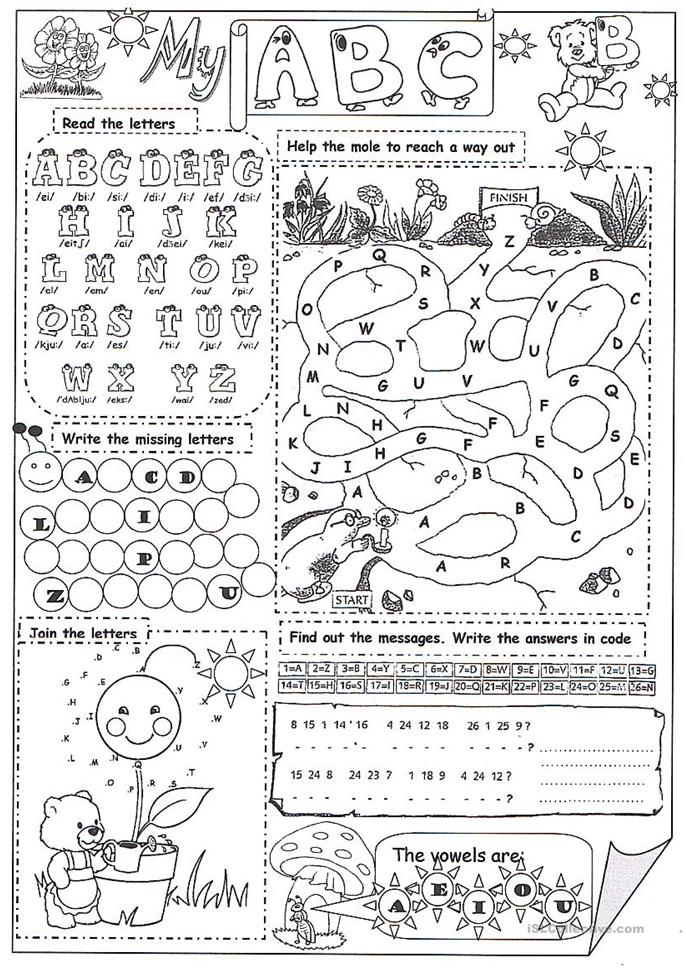 my abc - ESL worksheets