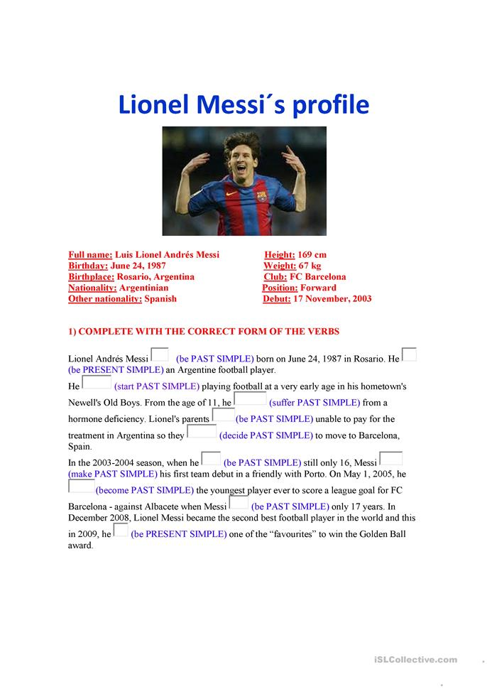 narrative essay about messi Lionel messi is an argentine soccer player who has established records and won awards en route to becoming the world's best soccer player learn more at biographycom.