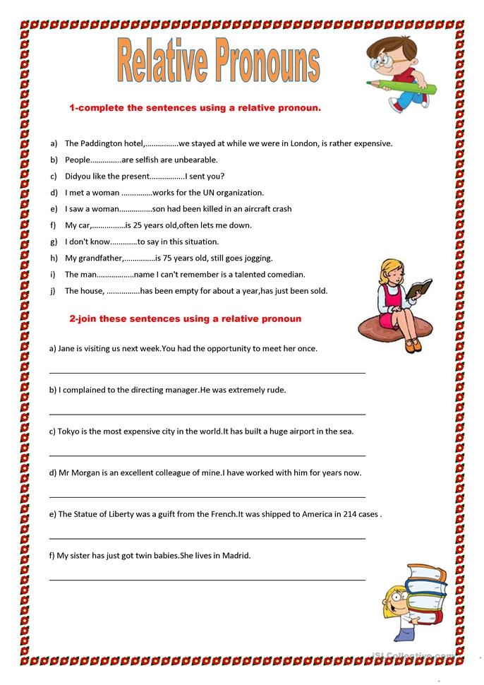 Worksheets Relative Pronoun Worksheet relative pronouns worksheet free esl printable worksheets made by teachers