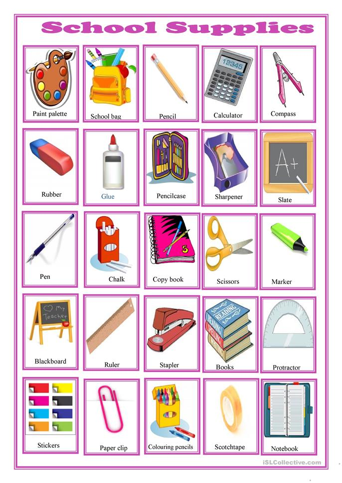 Classroom Activity: Shopping for School Supplies Role-play ... |Esl Classroom Supplies