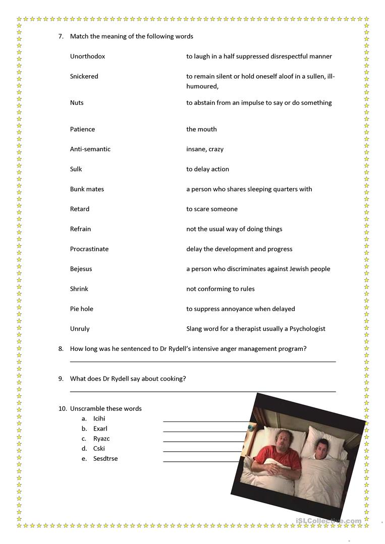 This is a picture of Monster Anger Management Quiz Printable