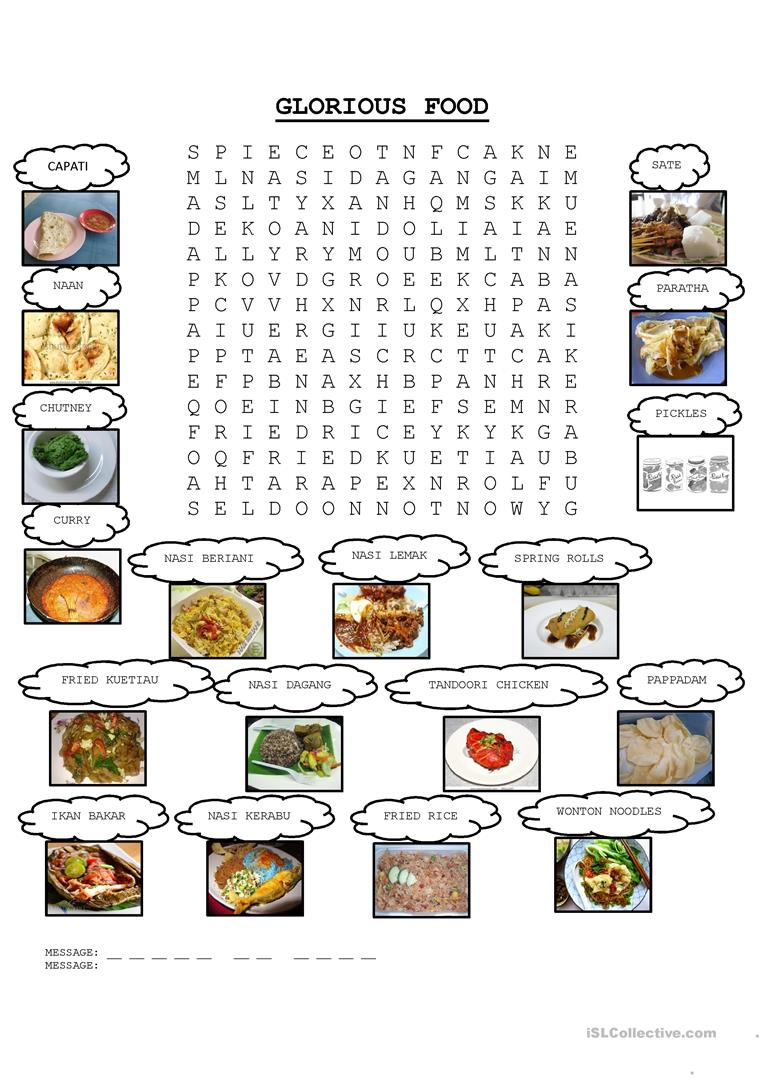 4 free esl malaysia worksheets glorious food malaysia m4hsunfo