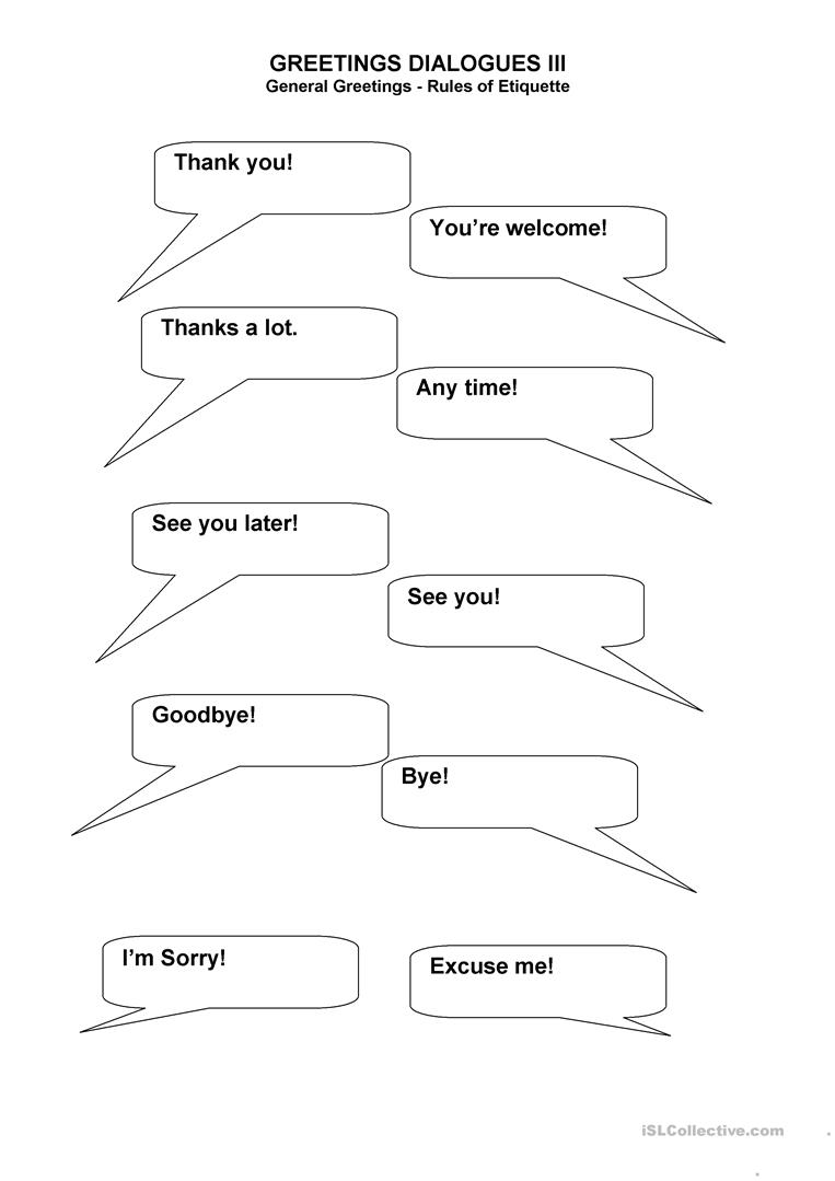 Greetings Dialogues Worksheet Free Esl Printable Worksheets Made
