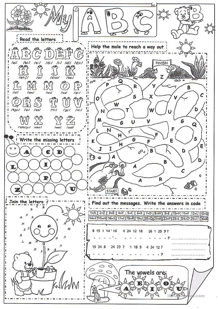 - My Abc - English ESL Worksheets For Distance Learning And Physical