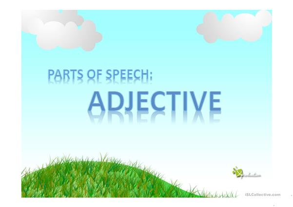 adjective vocabulary