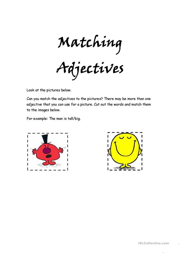 Adjectives Matching