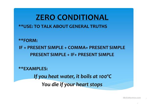 CONDITIONALS ( 0, 1ST , 2ND)