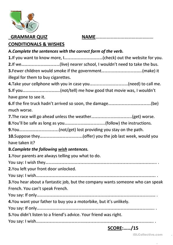 Conditionals and Wishes