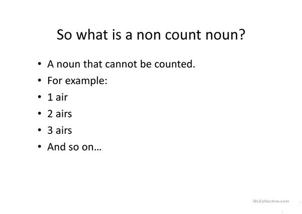 Count and Noncount noun ppt
