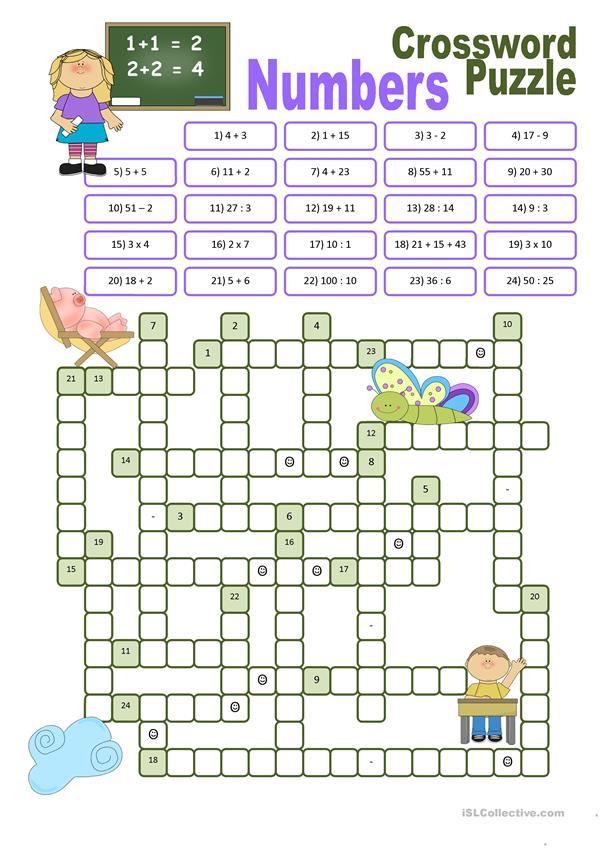 Crossword Puzzle Numbers