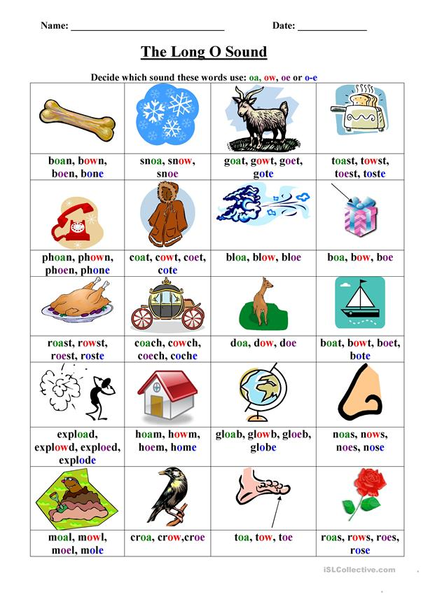 Long O Worksheet English Esl Worksheets For Distance Learning And Physical Classrooms