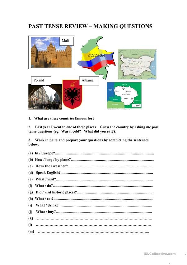 Past Tense Questions Review