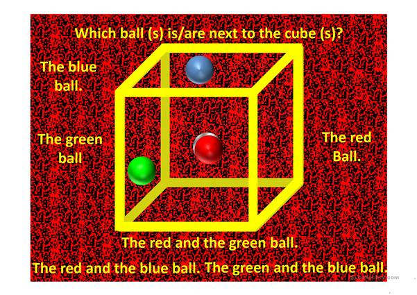 Prepositions of Place Cube Illusion
