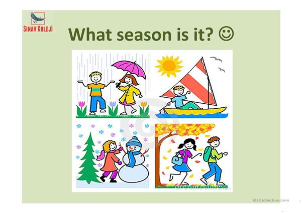 Seasons of the year!