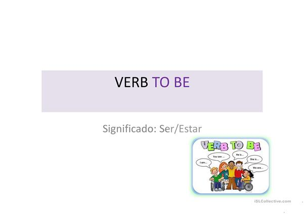 SLIDE OF VERB TO BE
